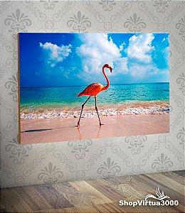 Placa em MDF Horizontal 6mm Ultra Brilho Personalizado Flamingo Modelo 03 - 01 Unidade