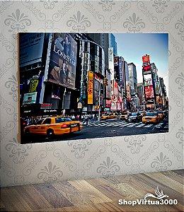 Placa em MDF Horizontal 6mm Ultra Brilho Personalizado Times Square NYC - 01 Unidade