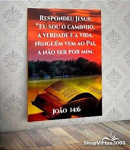 Placa em MDF Vertical 6mm Ultra Brilho Personalizado João 14:6 - 01 Unidade