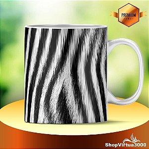 Caneca Cerâmica Classe +AAA Personalizada Textura Zebra - 01 Unidade