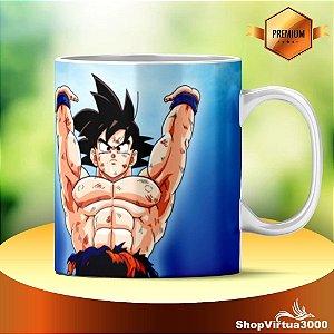 Caneca Cerâmica Classe +AAA Personalizada Goku (DBZ) - 01 Unidade