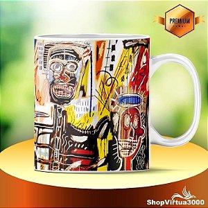 Caneca Cerâmica Classe +AAA Personalizada Arte Jean Michel Basquiat - 01 Unidade