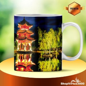 Caneca Cerâmica Classe +AAA Personalizada Forest of China the Night - 01 Unidade