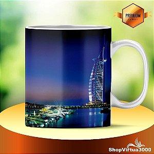 Caneca Cerâmica Classe +AAA Personalizada Dubai City - 01 Unidade