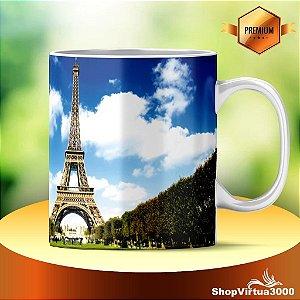 Caneca Cerâmica Classe +AAA Personalizada Torre Eiffel 03 - 01 Unidade
