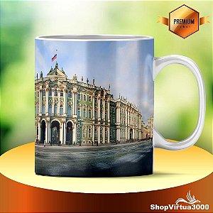 Caneca Cerâmica Classe +AAA Personalizada Museu Hermitage São Petersburgo - 01 Unidade