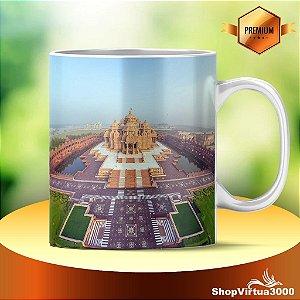 Caneca Cerâmica Classe +AAA Personalizada Templo de Akshardham - 01 Unidade
