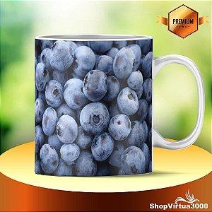 Caneca Cerâmica Classe +AAA Personalizada Textura Blueberry - 01 Unidade