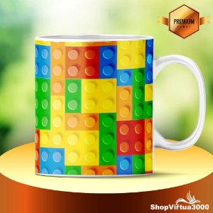 Caneca Cerâmica Classe +AAA Personalizada Lego - 01 Unidade