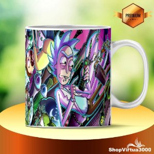 Caneca Cerâmica Classe +AAA Personalizada Rick And Morty Modelo 01 - 01 Unidade