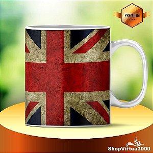 Caneca Cerâmica Classe +AAA Personalizada Bandeira da Inglaterra - 01 Unidade