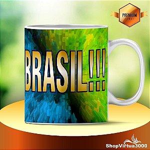 Caneca Cerâmica Classe +AAA Personalizada Brasil Modelo 02 - 01 Unidade
