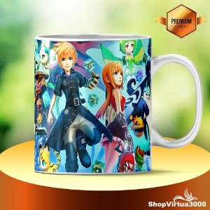 Caneca Cerâmica Classe +AAA Personalizada World of Final Fantasy - 01 Unidade