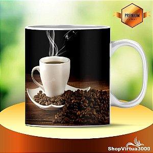Caneca Cerâmica Classe +AAA Personalizada Café com Grãos  - 01 Unidade