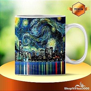 Caneca Cerâmica Classe +AAA Personalizada Triumph A Noite Estrelada, de Vincent Van Gogh - 01 Unidade