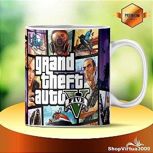 "Caneca Cerâmica Classe +AAA Personalizada Grand Theft Auto v ""GTA 5"" - 01 Unidade"