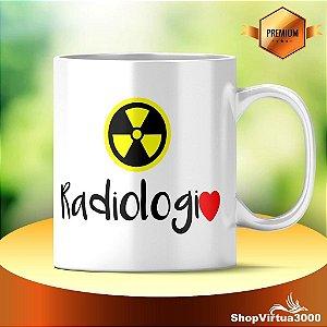 Caneca Cerâmica Classe +AAA Personalizada Radiologia - 01 Unidade