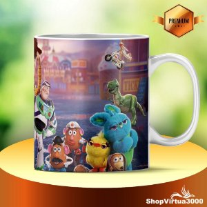 Caneca Cerâmica Classe +AAA Personalizada Toy Story 4 - 01 Unidade