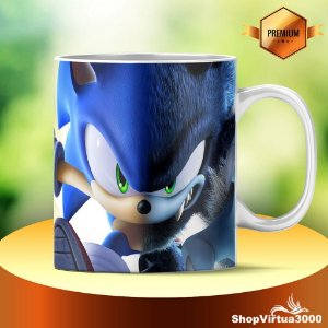 Caneca Cerâmica Classe +AAA Personalizada Sonic - 01 Unidade