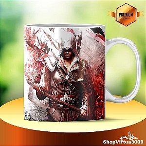 Caneca Cerâmica Classe +AAA Personalizada Assassin's Creed Modelo 03 - 01 Unidade