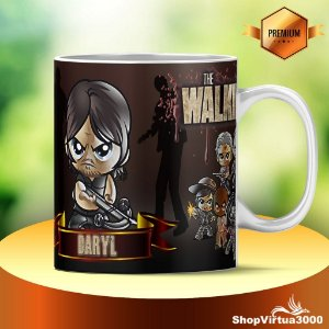 Caneca Cerâmica Classe +AAA Personalizada Daryl The Walking Dead - 01 Unidade