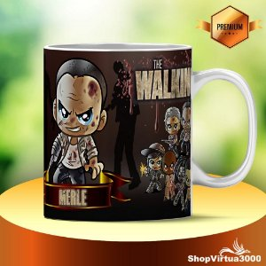 Caneca Cerâmica Classe +AAA Personalizada Merle The Walking Dead - 01 Unidade