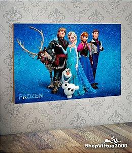Placa em MDF Horizontal 6mm Ultra Brilho Personalizado Frozen - 01 Unidade