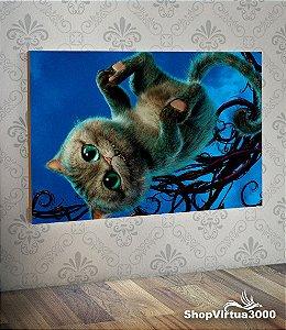 Placa em MDF Horizontal 6mm Ultra Brilho Personalizado Gato Felix Alice No Pais Das Maravilhas  - 01 Unidade