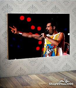 Placa em MDF Horizontal 6mm Ultra Brilho Personalizado Freddie Mercury Queen  - 01 Unidade