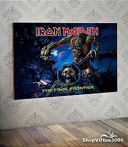 Placa em MDF Horizontal 6mm Ultra Brilho Personalizado Iron Maiden  - 01 Unidade