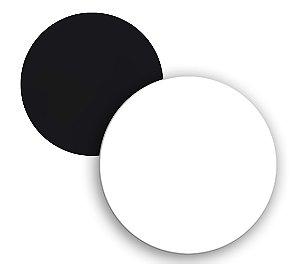 Imã de Geladeira Redondo em Mdf 3mm Branco Resinado para Sublimação Ultra Brilho (PH1106) - Pacote com 10 Unidades