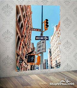 Placa em MDF Vertical 6mm Ultra Brilho Personalizado SoHo, Manhattan - 01 Unidade