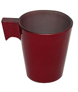 Xícara de Café Flashy 80ml Cor Vermelho Escarlate P/Transfer Laser (2817) - 01 Unidade (Promoção Natal)