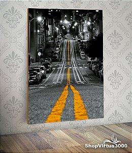 Placa em MDF Vertical 6mm Ultra Brilho Personalizado Looking Down The Street - 01 Unidade
