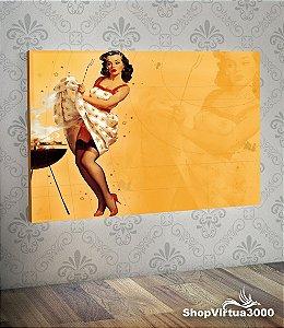 Placa em MDF Horizontal 6mm Ultra Brilho Personalizado Vintage Woman - 01 Unidade