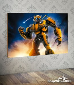 Placa em MDF Horizontal 6mm Ultra Brilho Personalizado Bumblebee (Transformers) - 01 Unidade