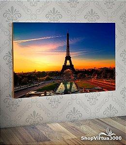 Placa em MDF Horizontal 6mm Ultra Brilho Personalizado Torre Eiffel Modelo 01 - 01 Unidade