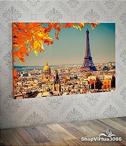 Placa em MDF Horizontal 6mm Ultra Brilho Personalizado Torre Eiffel Modelo 02 - 01 Unidade