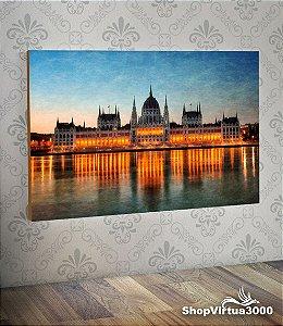 Placa em MDF Horizontal 6mm Ultra Brilho Personalizado Parlamento de Budapeste - 01 Unidade