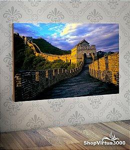 Placa em MDF Horizontal 6mm Ultra Brilho Personalizado Muralha da China Modelo 03 - 01 Unidade