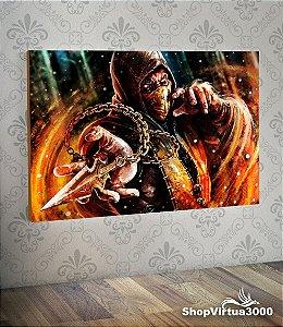 Placa em MDF Horizontal 6mm Ultra Brilho Personalizado Scorpion Mortal Kombat - 01 Unidade