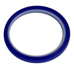 Fita Adesiva Térmica Azul Suporte até 300 graus Tamanho 6mm x 33m para sublimação (2847) - 01 Unidade