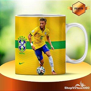 Caneca Cerâmica Classe +AAA Personalizada Neymar Futebol - 01 Unidade