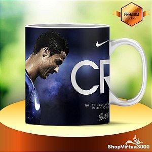 Caneca Cerâmica Classe +AAA Personalizada Cristiano Ronaldo Futebol - 01 Unidade