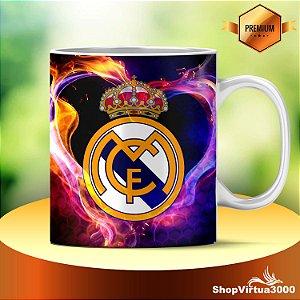 Caneca Cerâmica Classe +AAA Personalizada Real Madrid Futebol - 01 Unidade