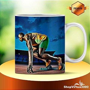Caneca Cerâmica Classe +AAA Personalizada Usain Bolt Modelo 02 - 01 Unidade