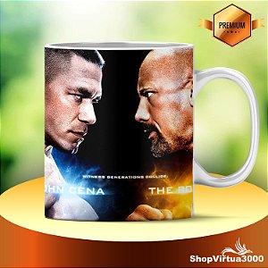 Caneca Cerâmica Classe +AAA Personalizada The Rock x John Cena- 01 Unidade