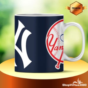 Caneca Cerâmica Classe +AAA Personalizada  New York Yankees - 01 Unidade