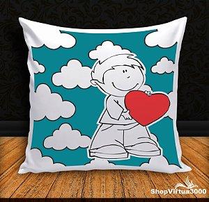 Almofada Personalizada Amor Metade Masculina (Com Capa Material Oxford + Enchimento) - 01 Unidade