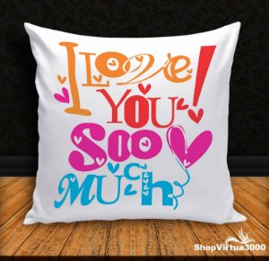 Almofada Personalizada Love You Soo Much (Com Capa Material Oxford + Enchimento) - 01 Unidade